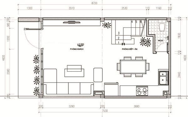 Ngắm thiết kế nhà ống 3 tầng 40m2 đẹp mê mẩn với chi phí tiết kiệm - 02