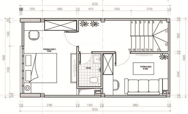 Ngắm thiết kế nhà ống 3 tầng 40m2 đẹp mê mẩn với chi phí tiết kiệm - 03