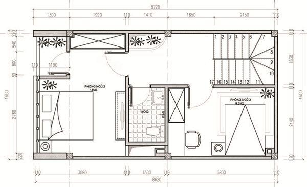 Ngắm thiết kế nhà ống 3 tầng 40m2 đẹp mê mẩn với chi phí tiết kiệm - 04