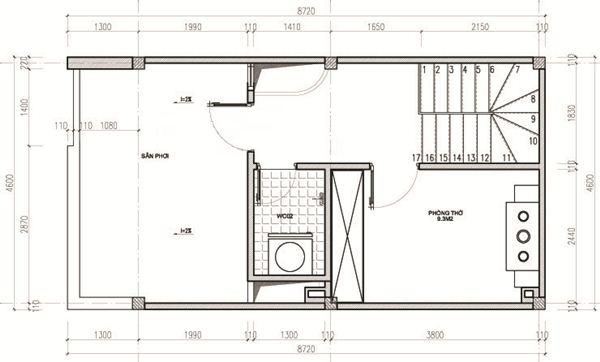 Ngắm thiết kế nhà ống 3 tầng 40m2 đẹp mê mẩn với chi phí tiết kiệm - 05