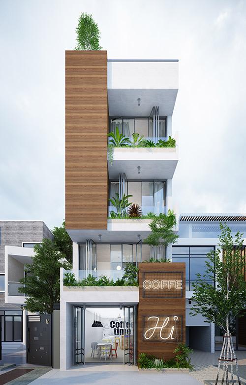 Ngắm mẫu thiết kế nhà phố đẹp hiện đại gần gũi với thiên nhiên - 01