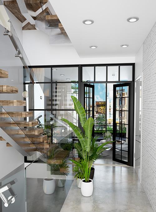 Ngắm mẫu thiết kế nhà phố đẹp hiện đại gần gũi với thiên nhiên - 06