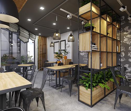 Ngắm nhìn thiết kế nhà phố 2 mặt tiền kết hợp kinh doanh quán cafe tại quận 7