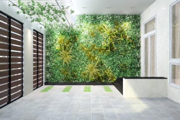 Ngôi nhà 3 tầng sống động với thiết kế vườn tường độc đáo - 01
