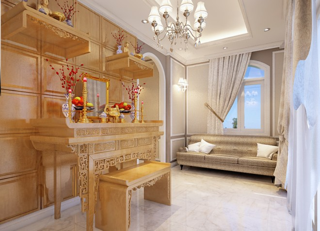 Ngôi nhà 3 tầng theo phong cách tân cổ điển hút mắt