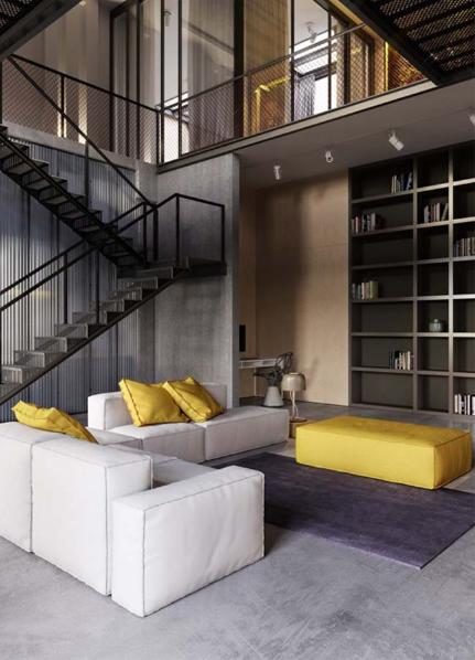Ngôi nhà phố thiết kế công nghiệp cao 2 tầng thể hiện cá tính - 01