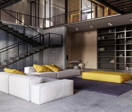 Ngôi nhà phố thiết kế công nghiệp cao 2 tầng thể hiện cá tính