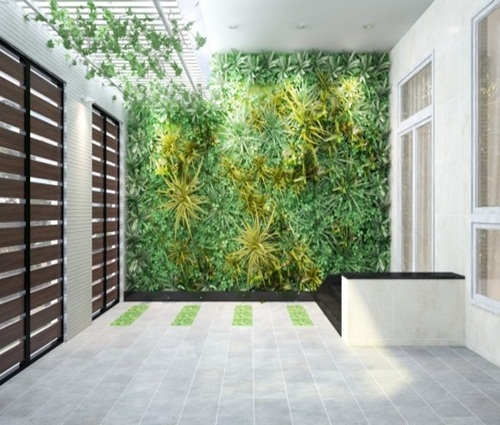Ngôi nhà 3 tầng sống động với thiết kế vườn tường độc đáo