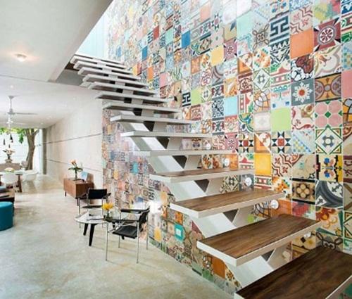 Thiết kế mẫu nhà phố sặc sỡ sắc màu vô cùng ấn tượng và nổi bật