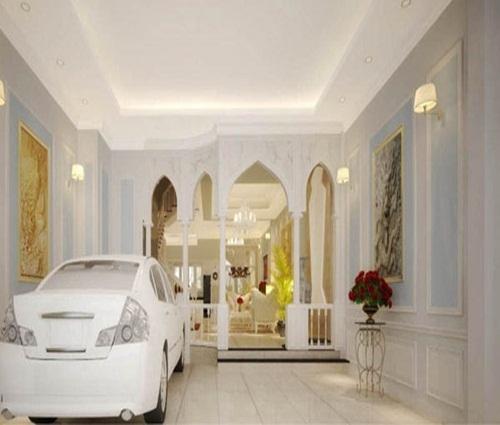 Ngôi nhà theo phong cách cổ điển có gara ô tô ngay sảnh