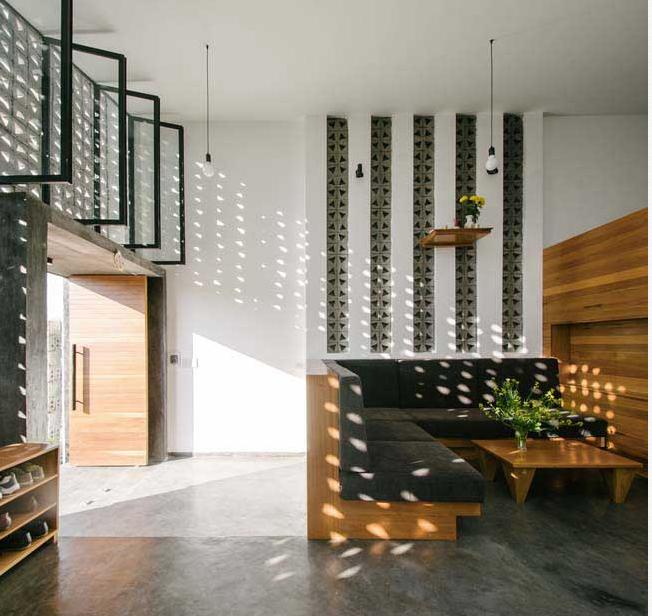 Ngôi nhà trệt mặt tiền cách điệu 1 tầng vô cùng thoáng mát - 03