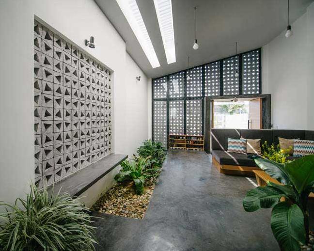 Ngôi nhà trệt mặt tiền cách điệu 1 tầng vô cùng thoáng mát - 05
