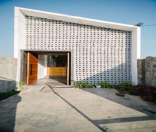 Ngôi nhà trệt mặt tiền cách điệu 1 tầng vô cùng thoáng mát