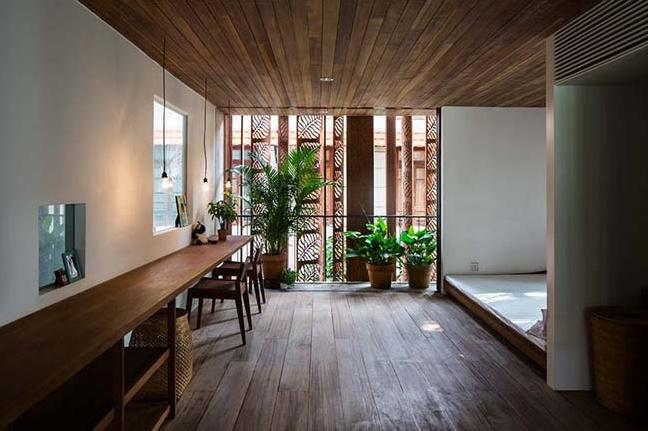 Mẫu nhà ống thiết kế bê tông và gỗ đẹp tinh xảo đầy cuốn hút - 04
