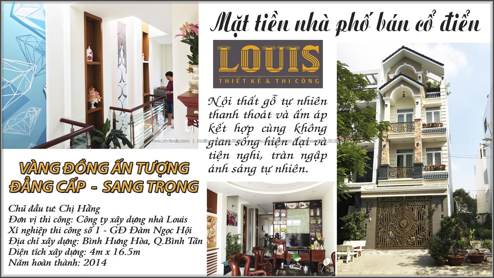 Thi công nhà ống bán cổ điển mặt tiền 5m Quận Bình Tân đẹp ngỡ ngàng