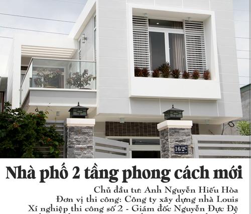 Thi công xây dựng nhà phố 1 trệt 1 lầu quận Bình Tân