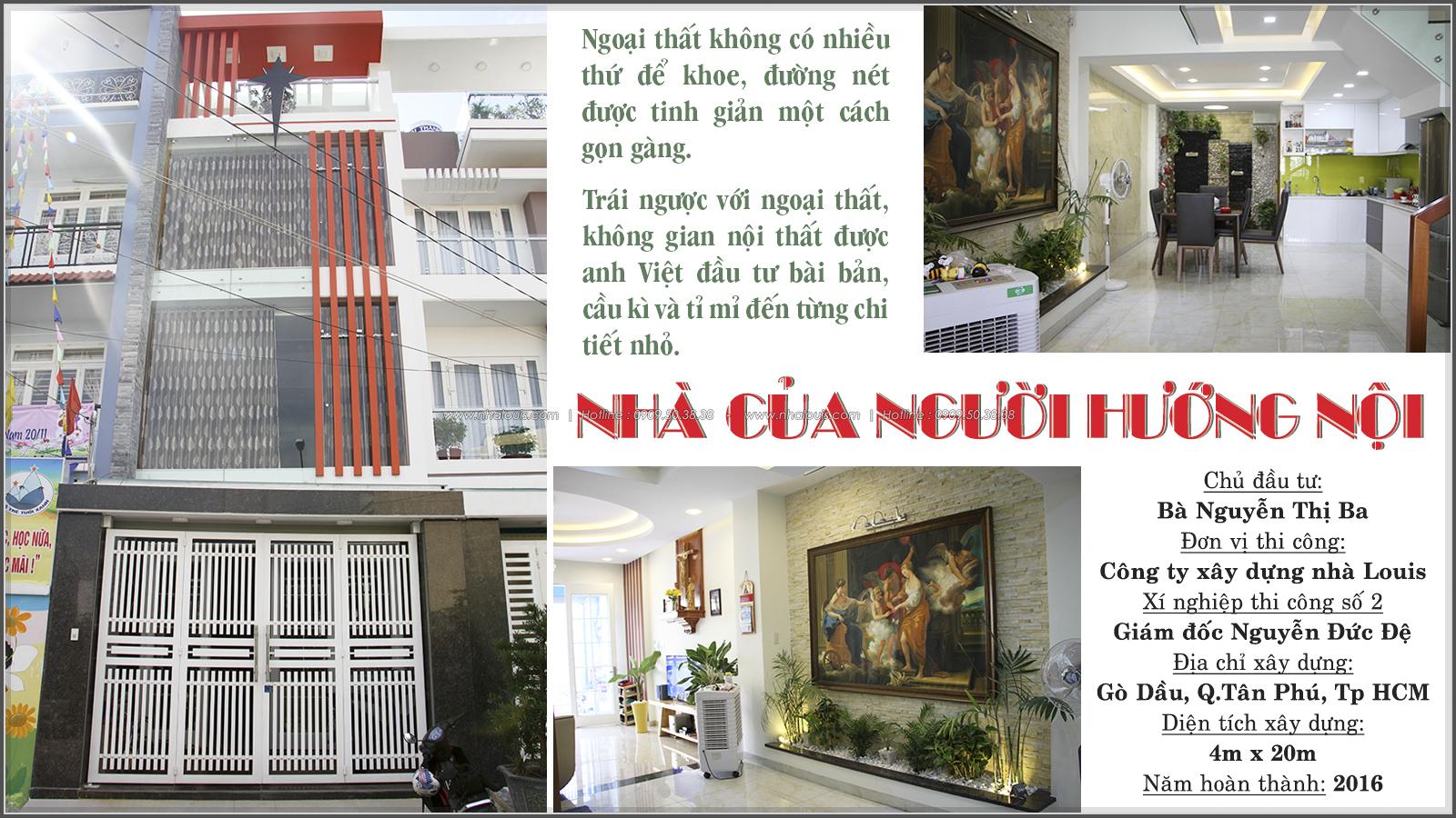 Thi công xây dựng nhà phố 1 trệt 2 lầu phong cách hiện đại ở Tân Phú - 01