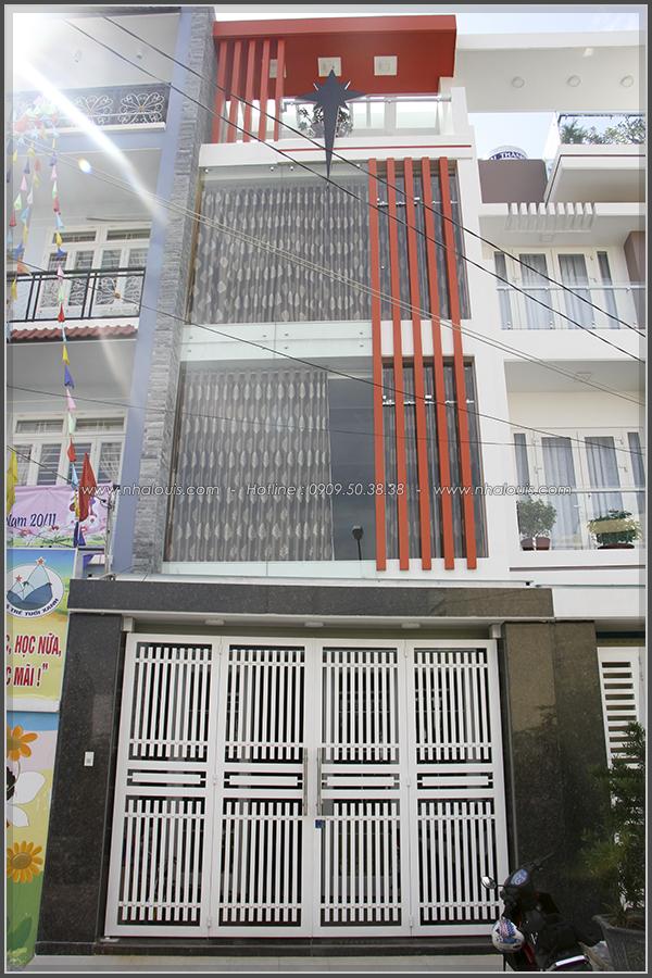 Thi công xây dựng nhà phố 1 trệt 2 lầu phong cách hiện đại ở Tân Phú - 02