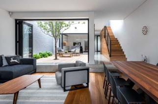 Thiết kế mẫu nhà phố 2 tầng có sân vườn đẹp hiện đại và tinh tế - 04