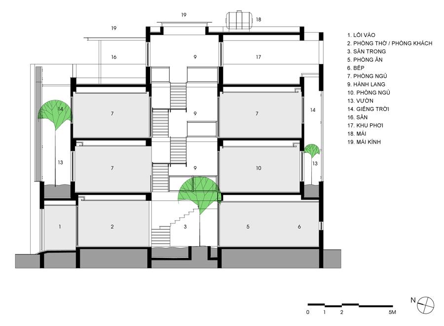 Nhà phố 3 tầng trở nên thông thoáng sau khi cải tạo