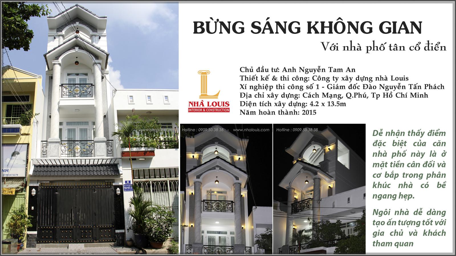 Thi công xây dựng nhà phố bán cổ điển mặt tiền 4m tại Quận Tân Phú - 01