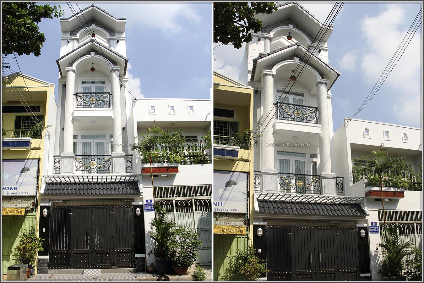 Thi công xây dựng nhà phố bán cổ điển mặt tiền 4m tại Quận Tân Phú - 04