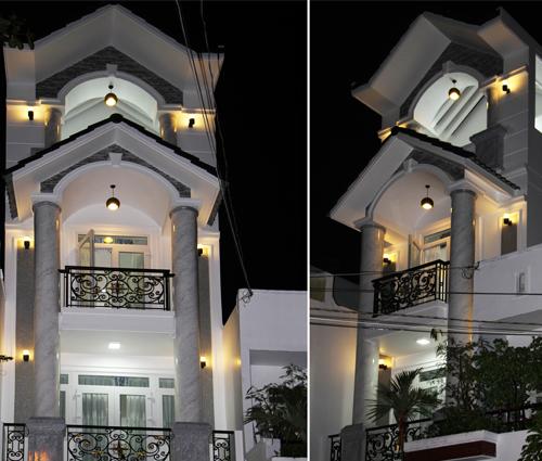Thi công xây dựng nhà phố bán cổ điển mặt tiền 4m tại Quận Tân Phú