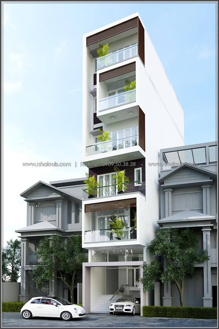 Thi công xây dựng nhà phố 5 tầng kết hợp văn phòng cho thuê ở Quận 1 - 09