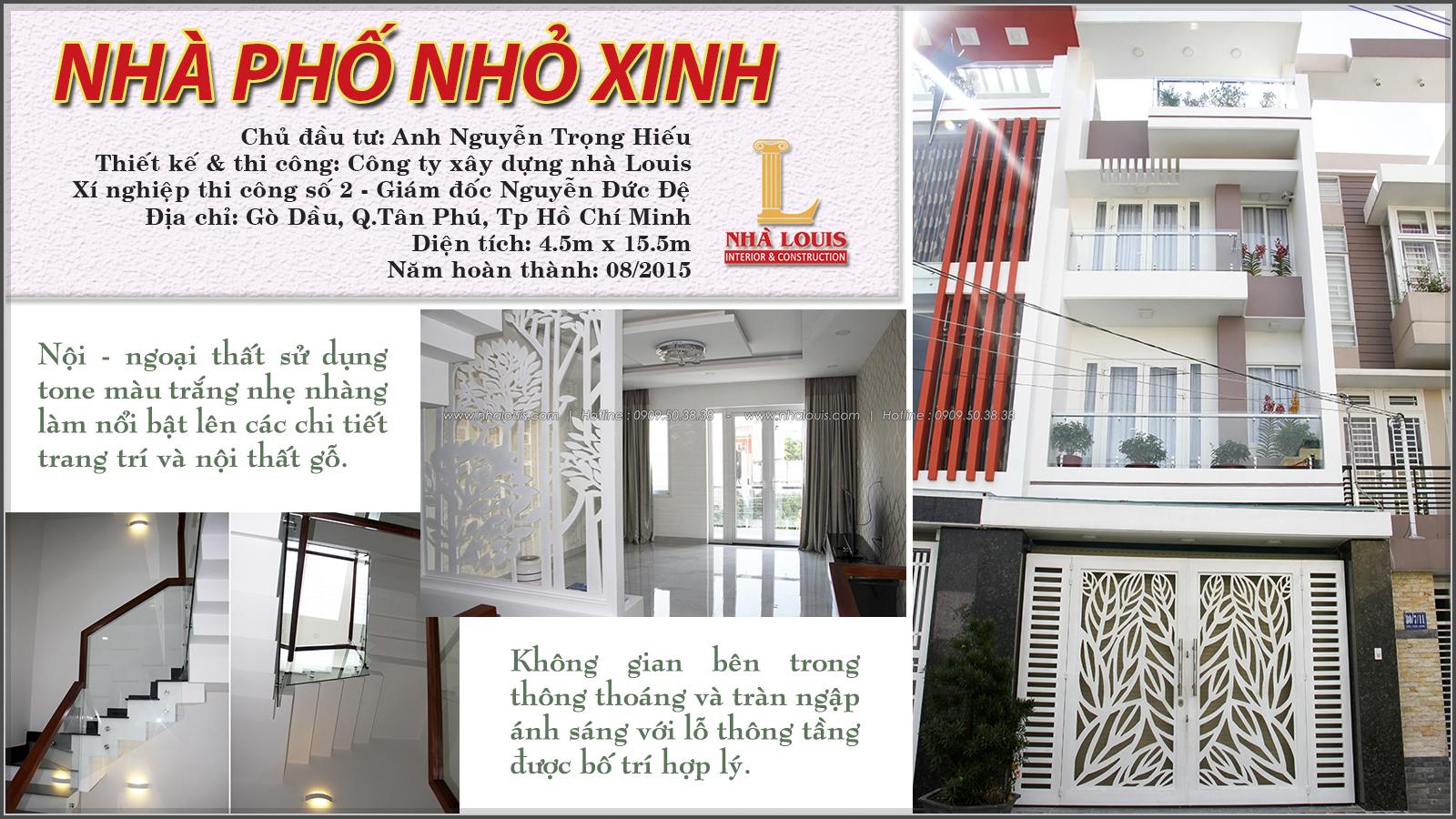 Thi công xây dựng nhà phố phong cách hiện đại cao 3 tầng tại Tân Phú - 01