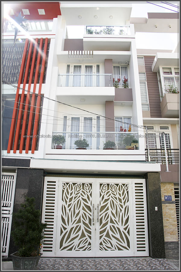 Thi công xây dựng nhà phố phong cách hiện đại cao 3 tầng tại Tân Phú - 02