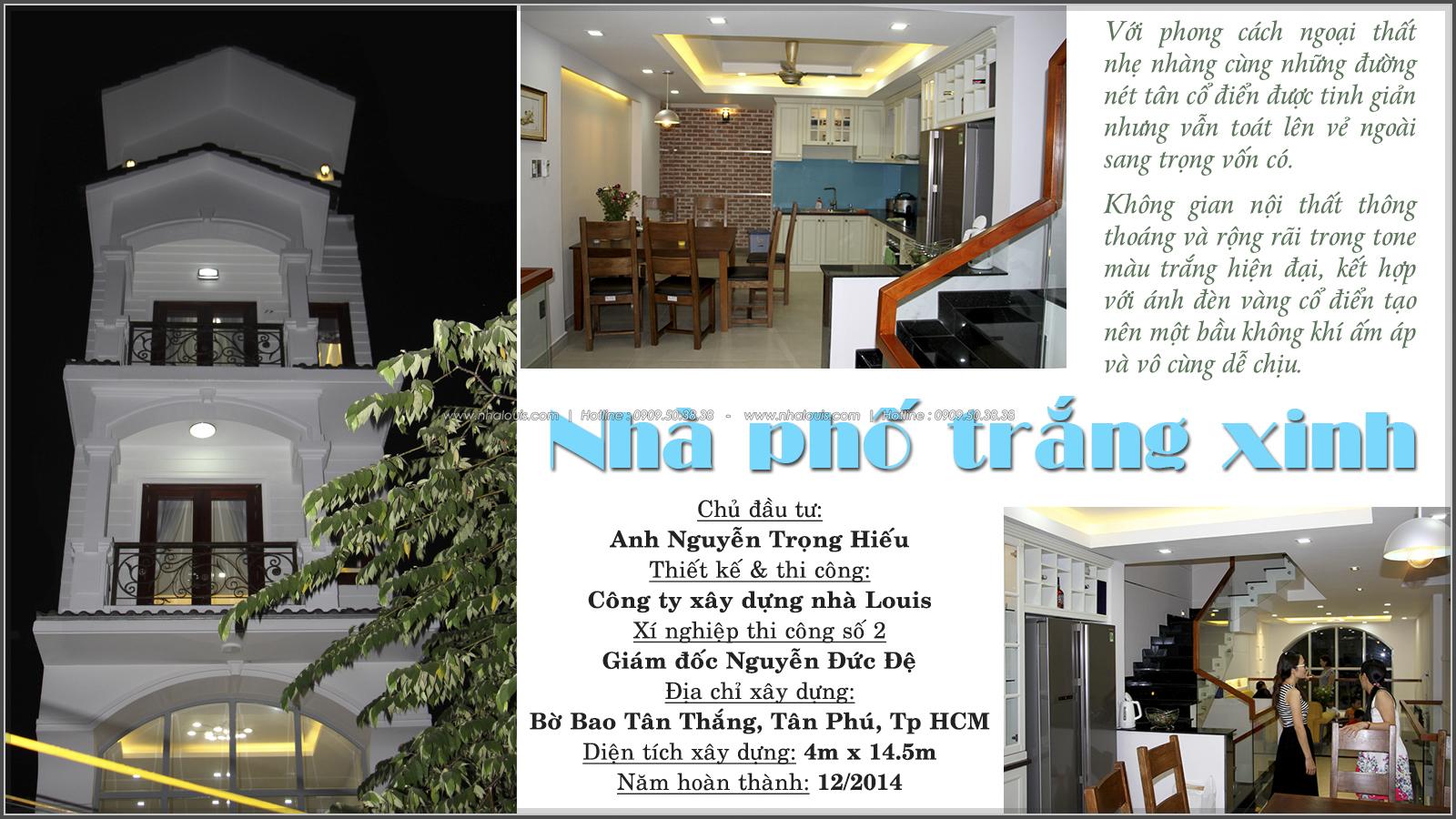 Thi công nhà phố tân cổ điển mang vẻ đẹp hiện đại tại Quận Tân Phú - 01