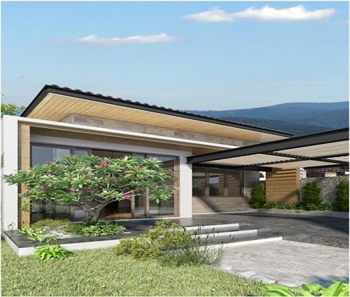 Thiết kế mẫu nhà trệt 3 phòng ngủ trên mảnh đất 300m2