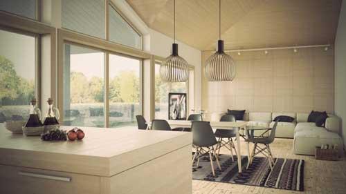 Những mẫu phòng khách đẹp kết hợp phòng ăn