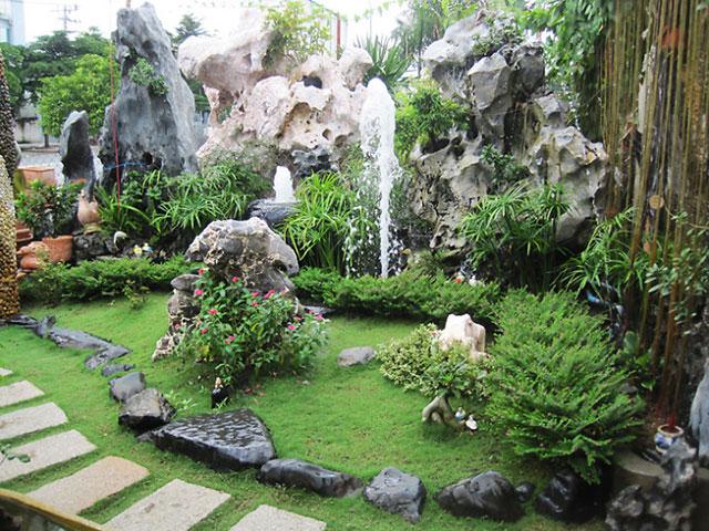 Những mẫu tiểu cảnh sân vườn cho biệt thự thêm sống động