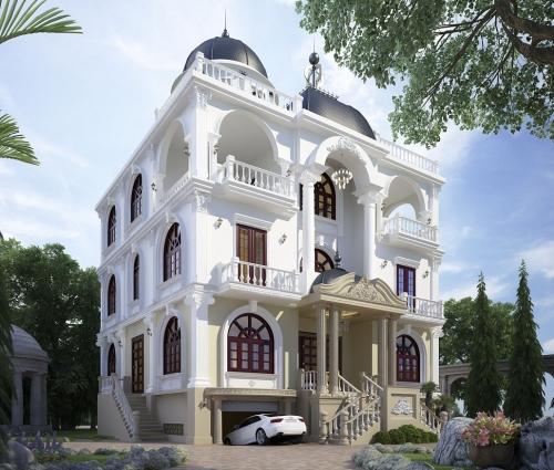 Nội thất bên trong căn biệt thự cổ điển Pháp xinh đẹp