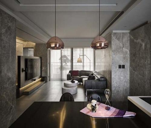 Nội thất đá hoa cương sang trọng của căn hộ chung cư