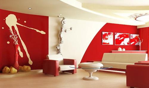 Thiết kế nội thất văn phòng màu đỏ cho vượng khí lan tỏa - 01