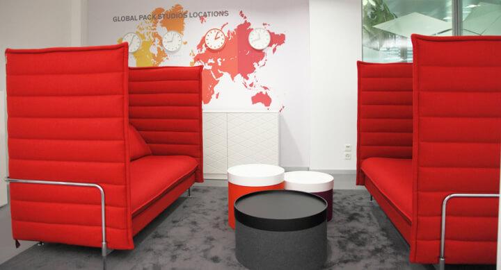 Thiết kế nội thất văn phòng màu đỏ cho vượng khí lan tỏa - 02