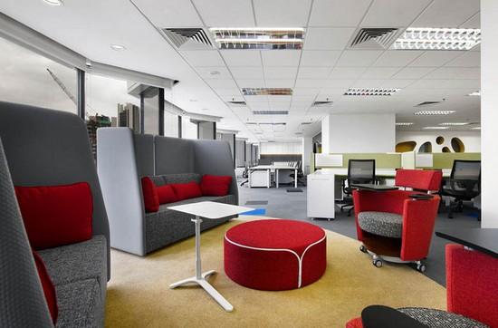 Thiết kế nội thất văn phòng màu đỏ cho vượng khí lan tỏa - 06