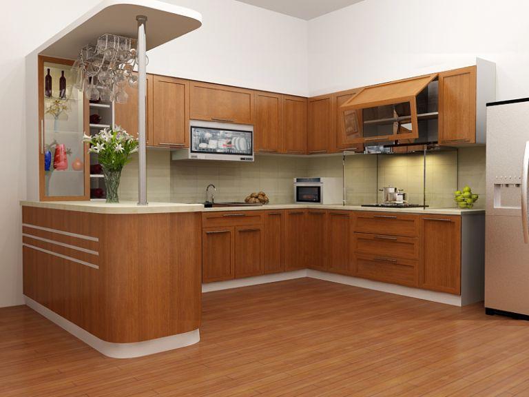 Phòng bếp kết hợp với quầy bar mini ngay trong ngôi nhà của bạn