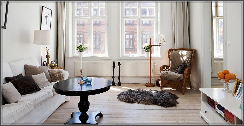 Ấn tượng phòng khách phong cách Bắc Âu