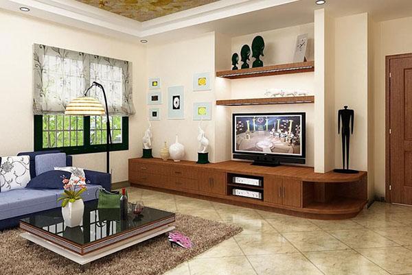Phòng khách đẹp cho mẫu nhà cấp 4