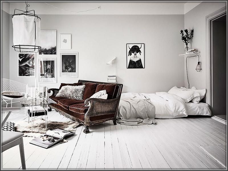 Mẫu phòng ngủ đẹp chỉ với 2 màu đen - trắng
