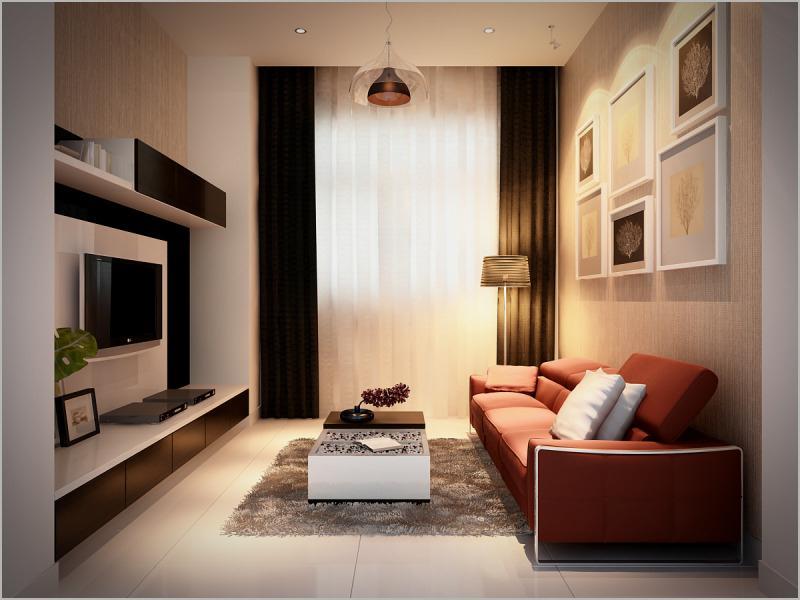 Phòng sinh hoạt nhỏ nhưng ấm áp và đầy đủ tiện nghi - 03