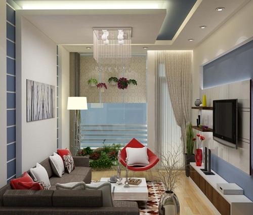 Phòng sinh hoạt nhỏ nhưng ấm áp và đầy đủ tiện nghi