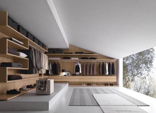 Phòng thay đồ đẹp thiết kế riêng dành cho quý ông lịch lãm