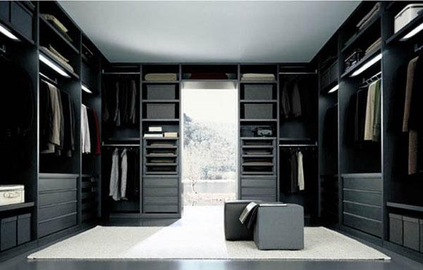 Phòng thay đồ thiết kế mở đẹp tinh tế