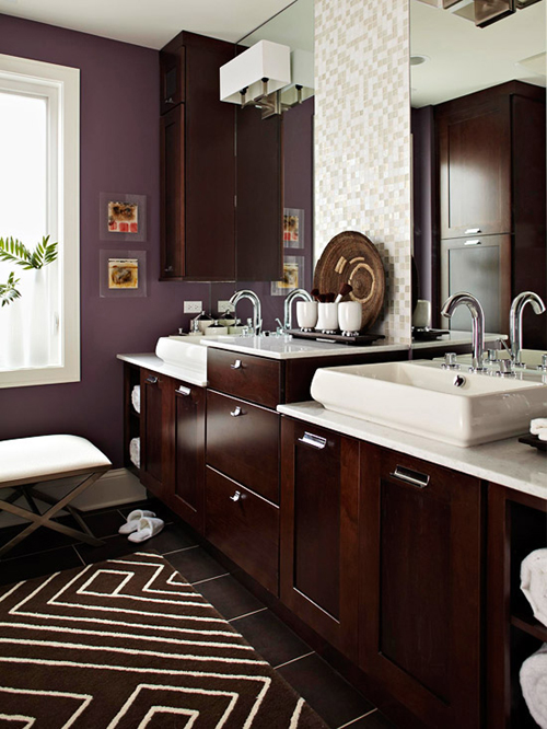 Sự kết hợp màu sắc hoàn hảo cho WC trở nên đẹp và cuốn hút