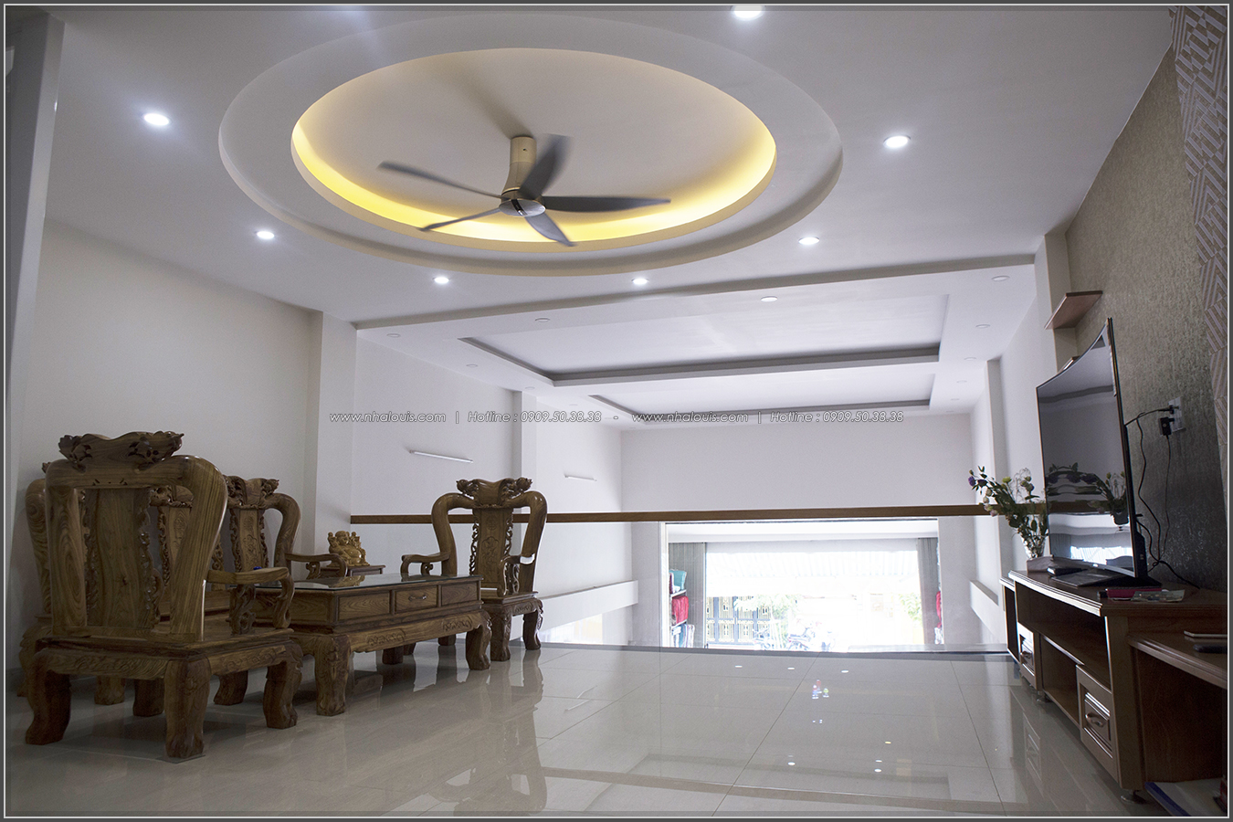 Thi công nhà đẹp 3 tầng mặt tiền 5m kết hợp kinh doanh tại quận 8 - 10