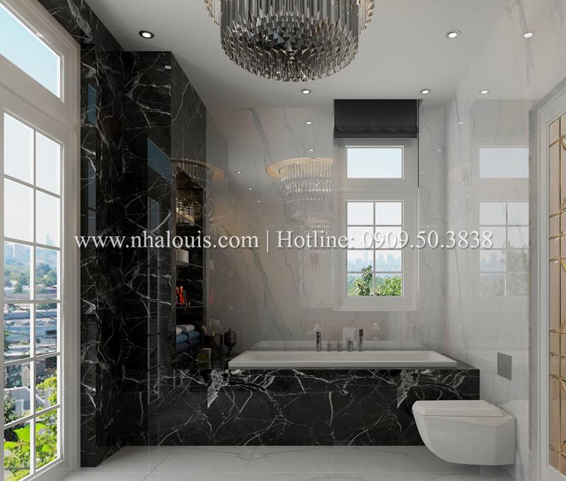 Thiết kế WC có bồn tắm sang trọng cho không gian đẳng cấp